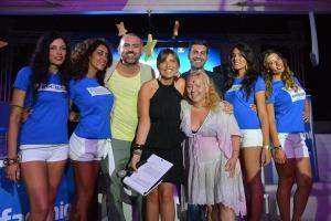 blu-250 - art director tommy totaro con il resp eventi Antonello fornaro e la scenografa Monica Fattorusso