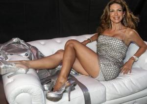 Martin Campanile/LapresseRoma, Siparietto sexy per Maria Mons al party per i 50anni della concessionaria Leonori a Roma
